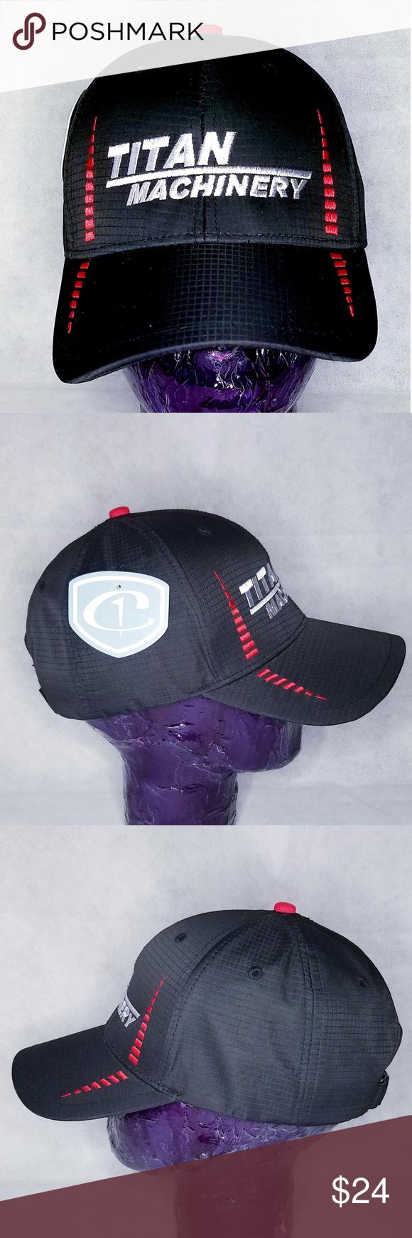 Titan Machinery Hat Baseball Cap Moisture Wicking Baseball Hats Baseball Cap Hats