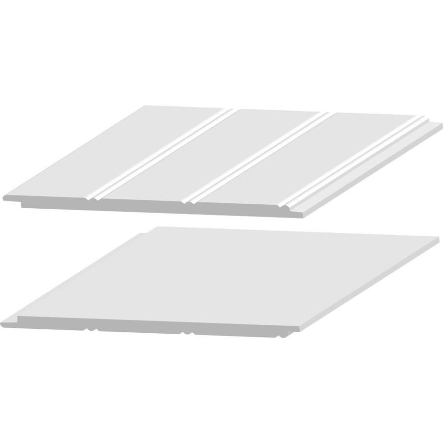 Royal Building Products 7 313 In X 8 0 Ft White Pvc Wall Plank Lowes Com Ship Lap Walls Pvc Wall White Shiplap Wall