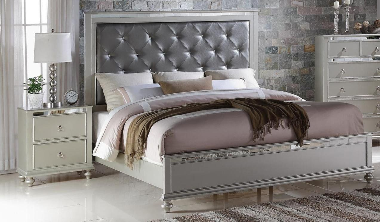 Soflex Kiana Silver Grey Diamond Tufted Headboard Panel Bedroom