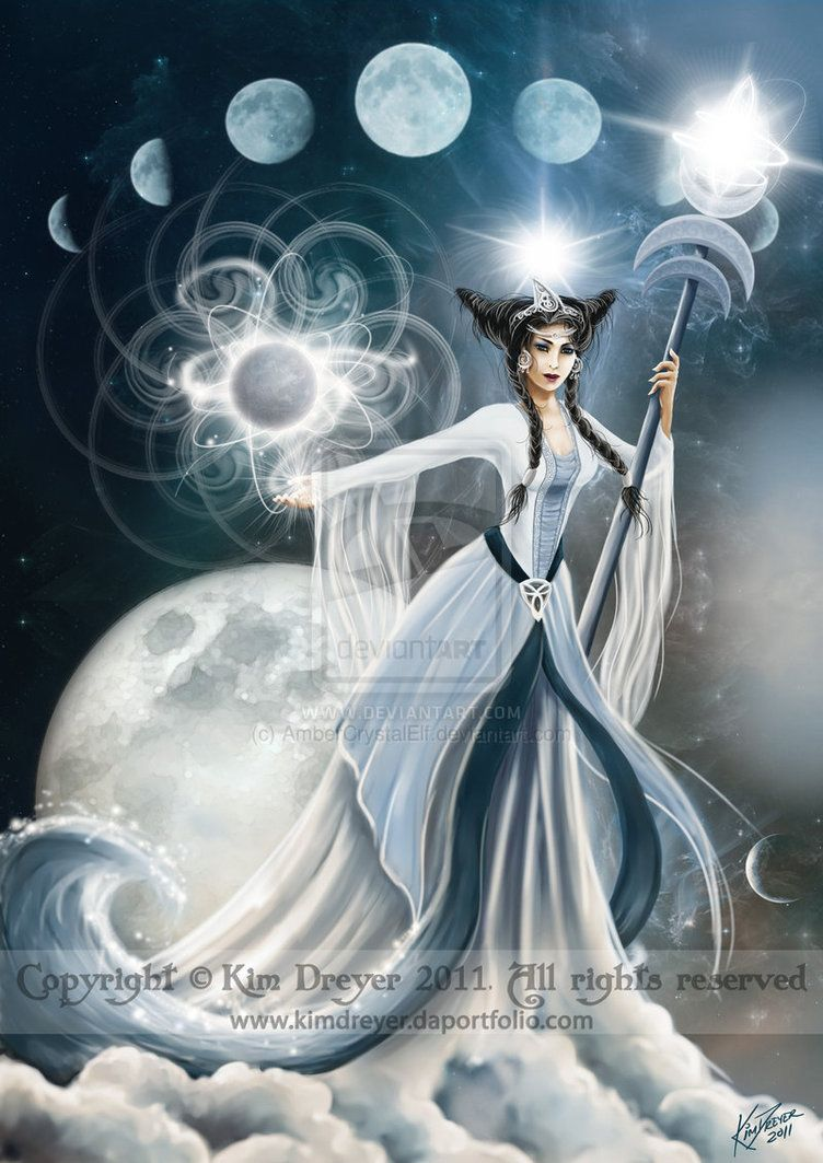 Moon Goddess By Ambercrystalelf On Deviantart Moon Goddess Moon