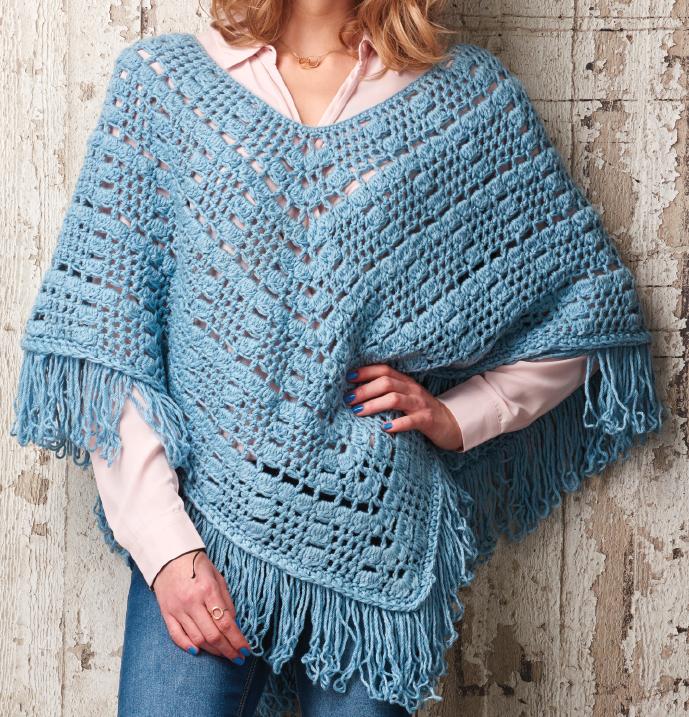 Fringed Crochet Poncho Ravelry Pdf Pattern Hookie Heaven Crochet