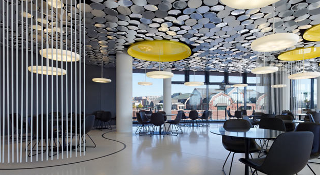 interiors : spiegel cafeteria   ceilings, circular mirror and cafe, Innedesign