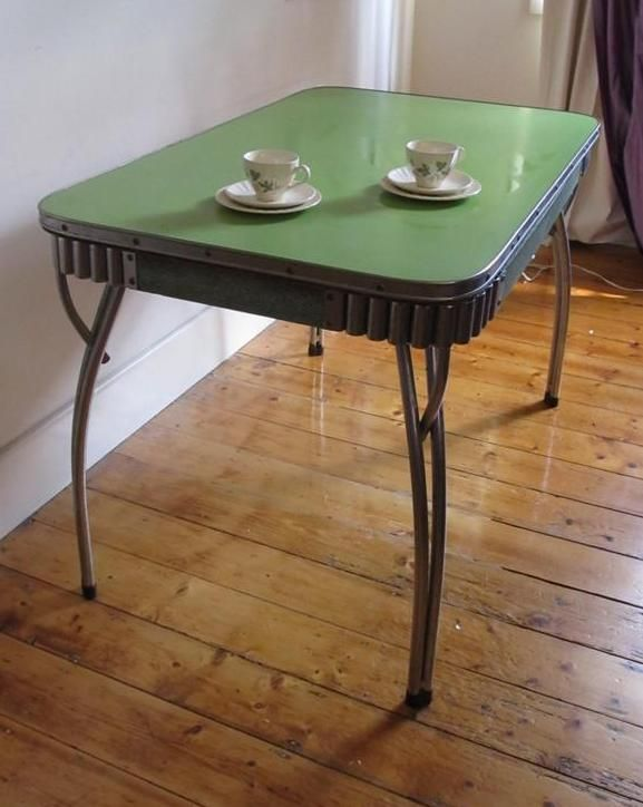 Vintage Retro Rare Chrome Laminex 50s 60s Kitchen Dining Table