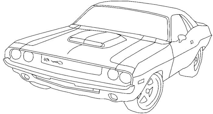 dodge ram classic coloring page