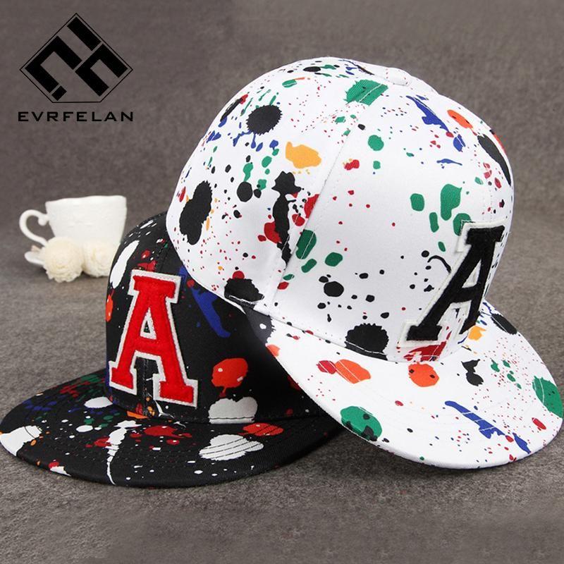 Evrfelan Women Baseball Cap Snapback Hat Graffiti Brand Snapback Cap Men  Women Baseball Cap Snapback Hat Adjustable cb1214ccd0b