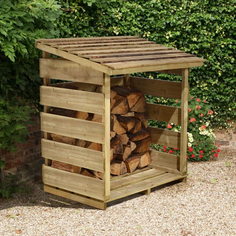 Wooden log store garden storage buy sheds direct uk for Log storage ideas