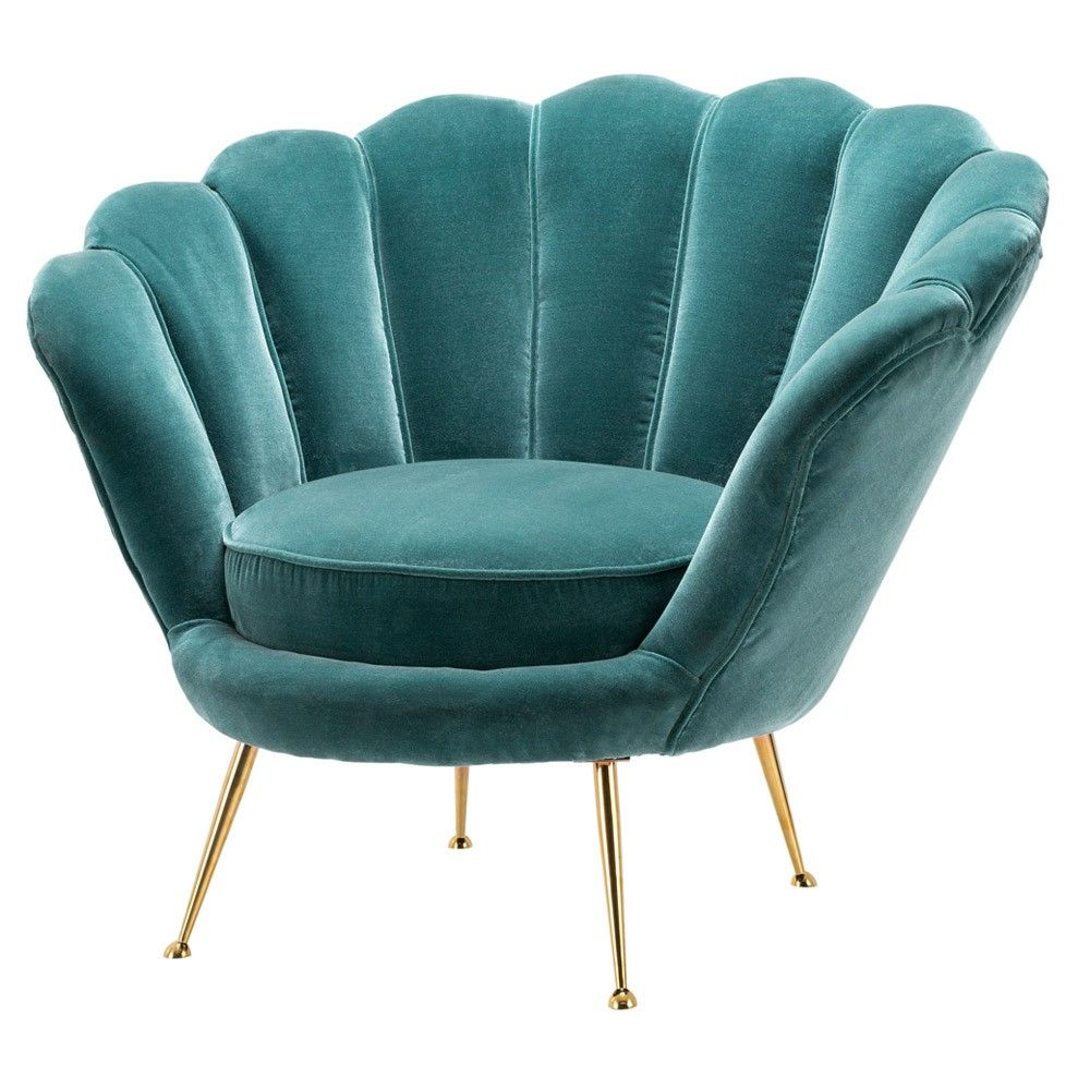 Lounge Swivel Chair Large Occasion High Back Velvet Armchair Funky Relaxing Seat