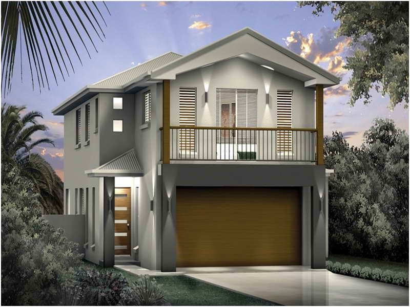 Awesome fresh narrow lot beach house plans beach house for Narrow house plans with garage underneath