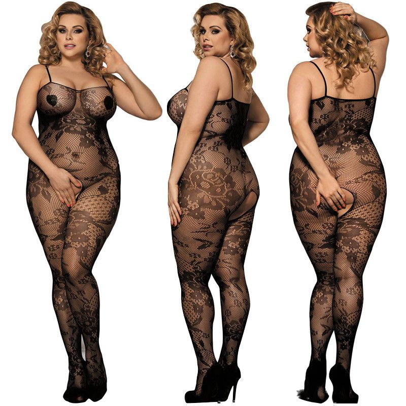 67bc2e1005c  6.99 - Plus Size Womens Fishnet And Lace Crotchless Bodystocking Lingerie  Bodysuit  ebay  Fashion