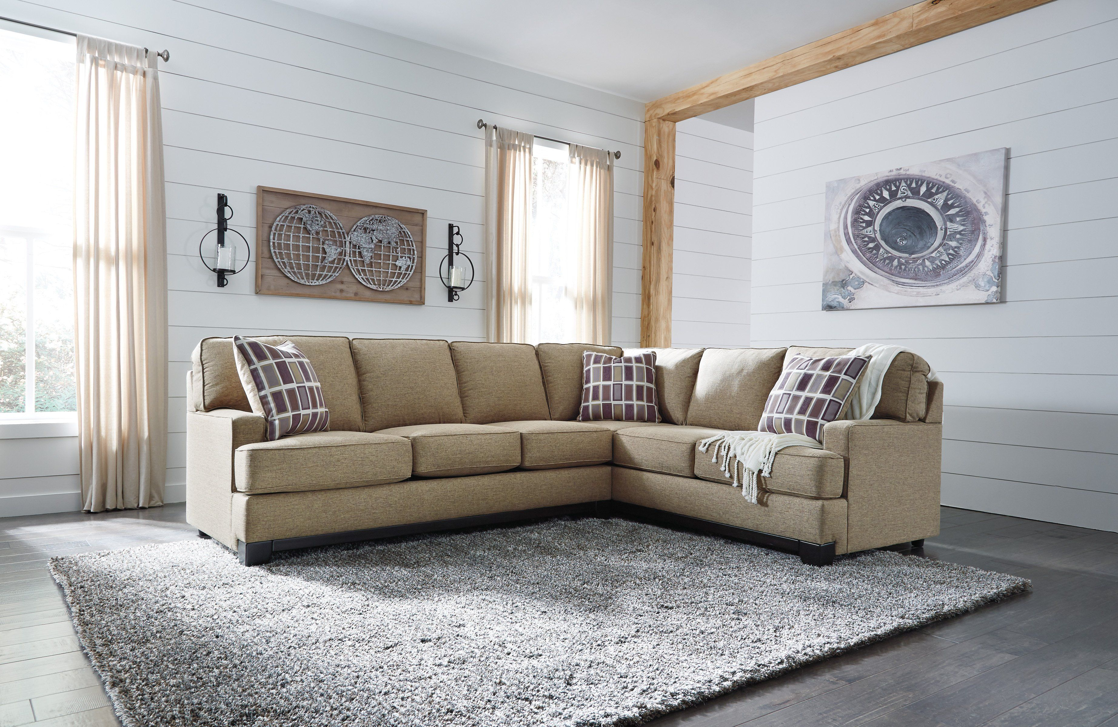 Signature Design By Ashley Larkhaven Amber 2 Pieces Sectional Sofa Furniture Sectional Sofa 2 Piece Sectional Sofa