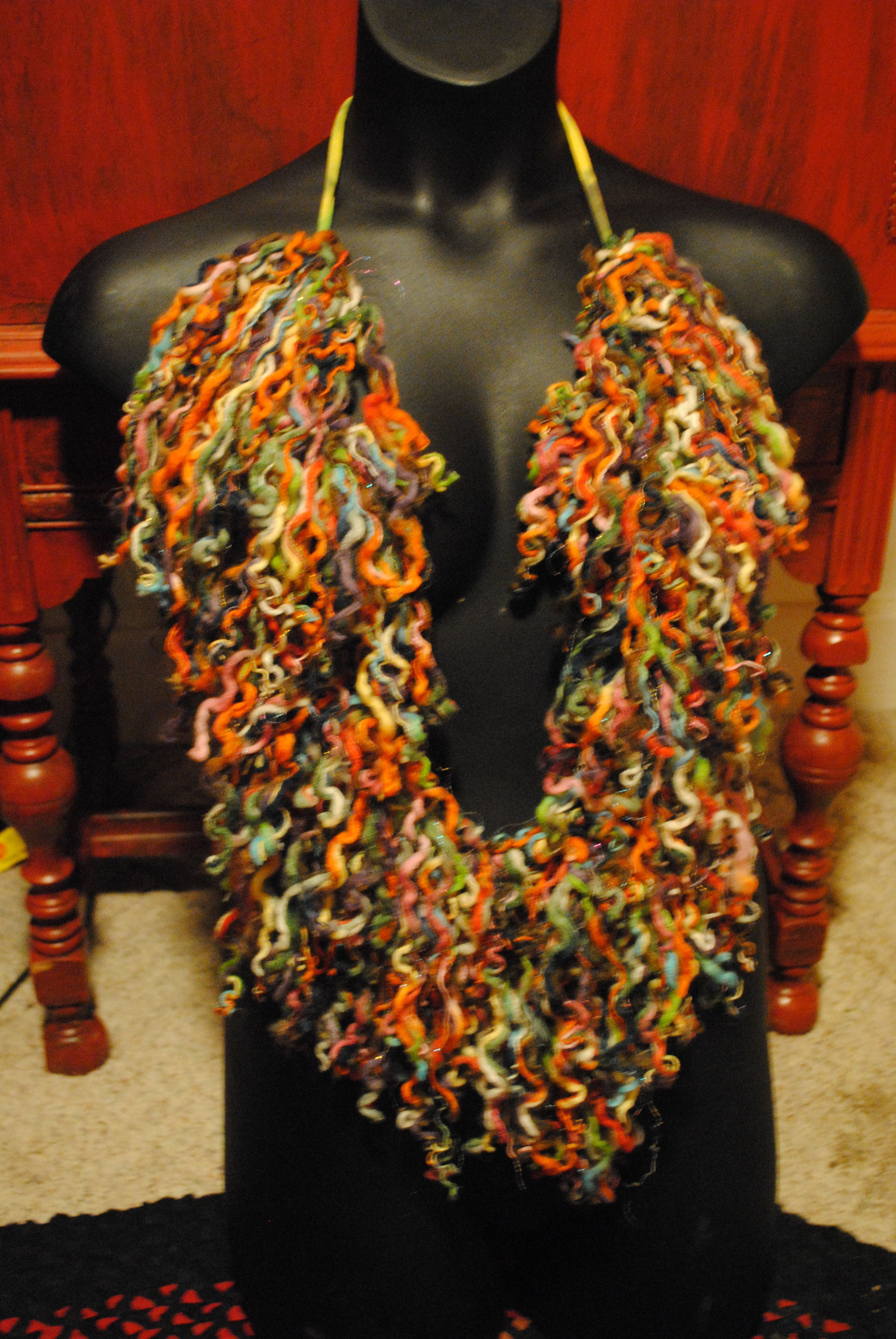 crazy scarf-BY lee designs..see Lee designs on facebook to order-$20