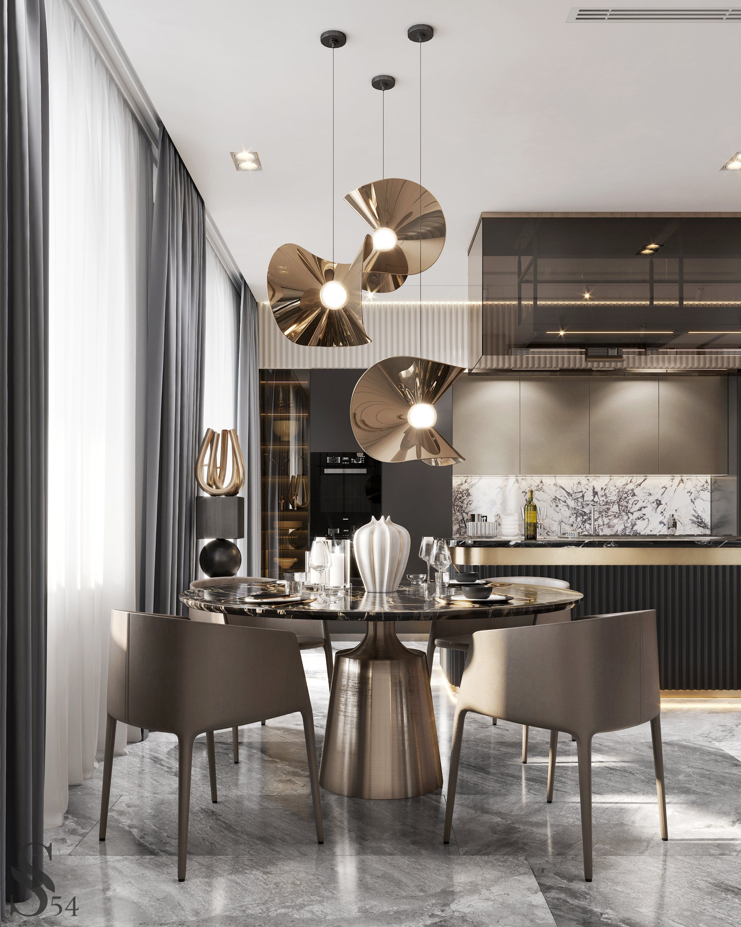 The Latest Luxurious Trends For Your Home Decoration In 2020 Dining Room Design Interior Design Kitchen Modern Kitchen Design
