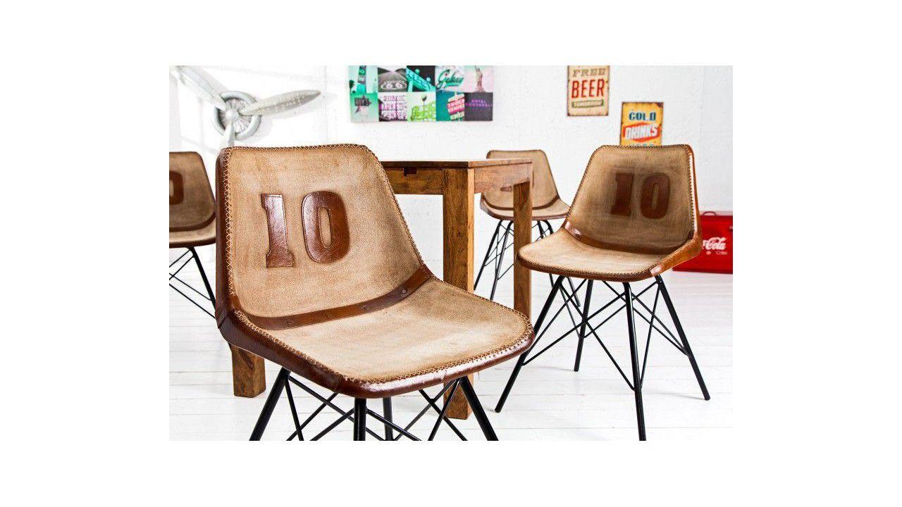 Chaise design cuir Dix, une très belle chaise au design contemporain et tout confort