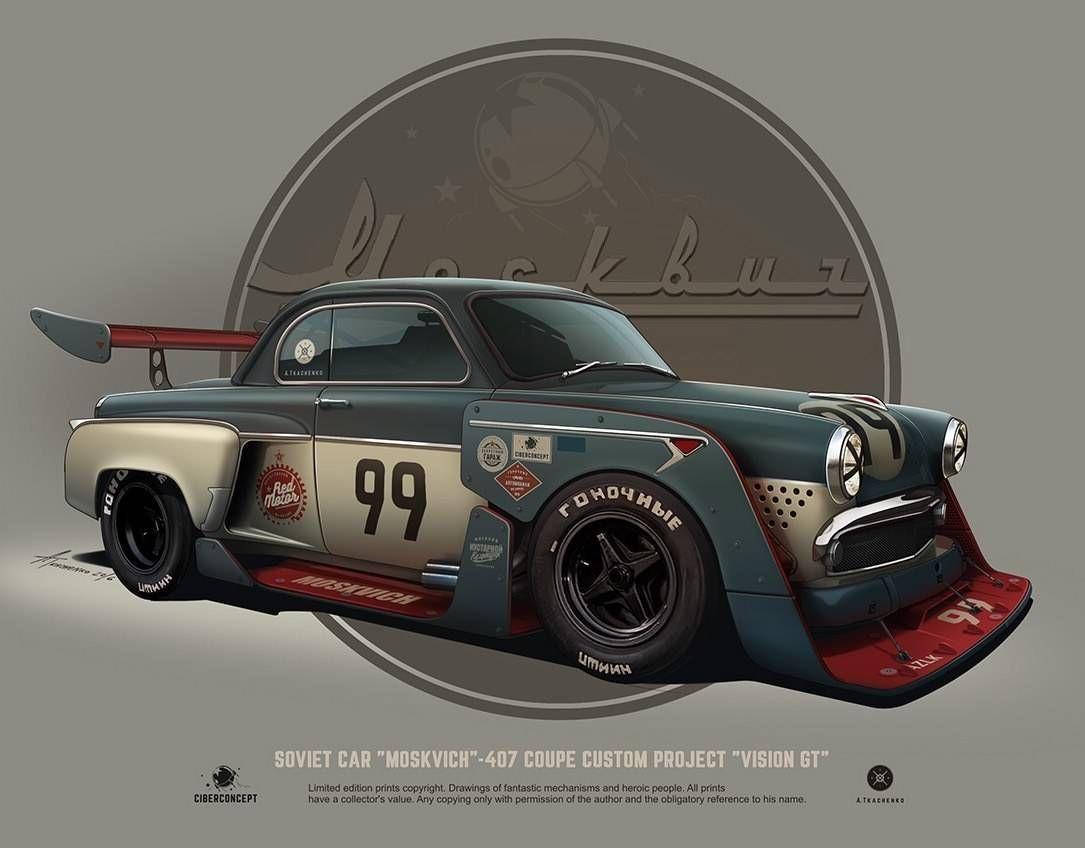 10 carros Soviéticos customizados por Andrey Tkachenko | Skizzen ...