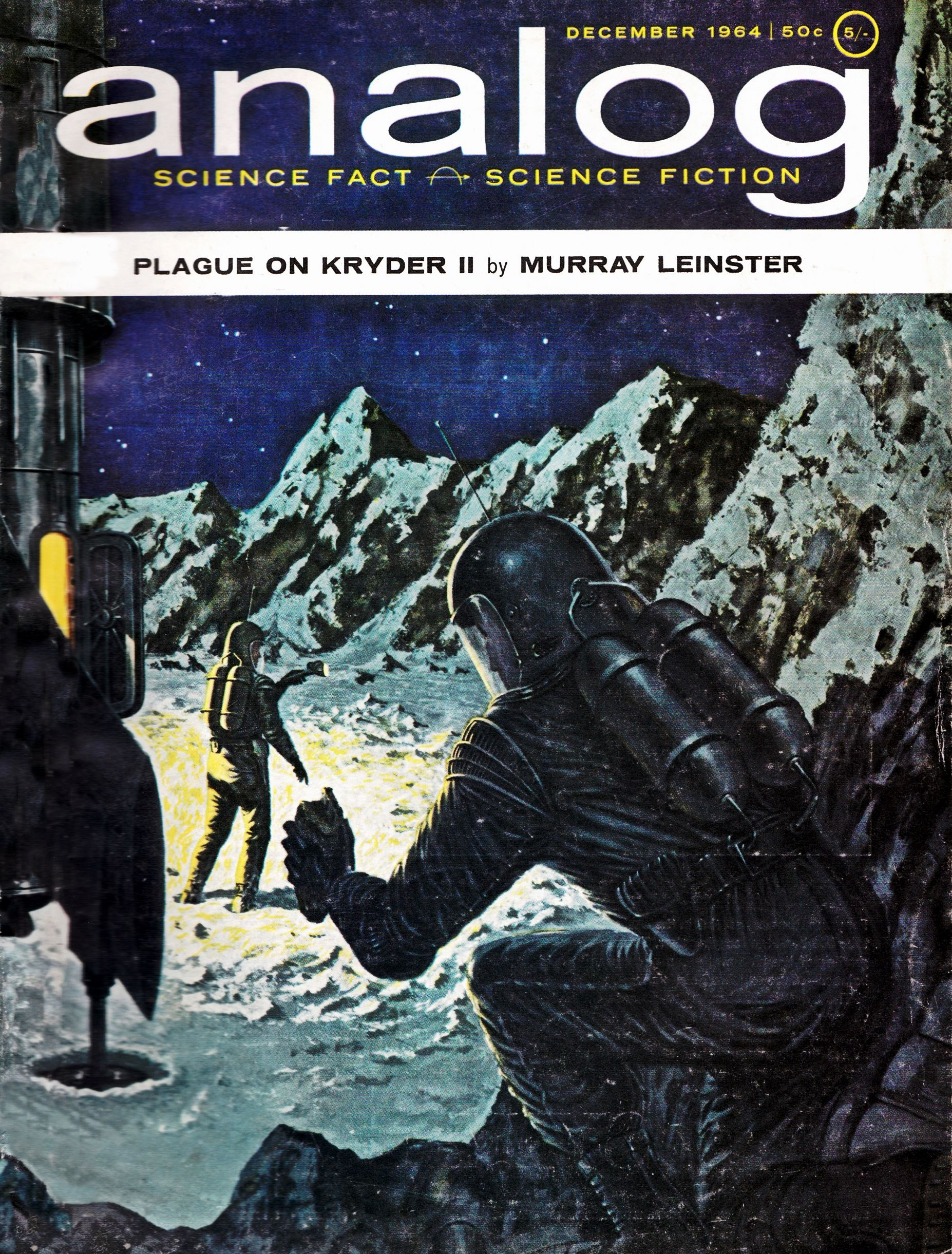 Analog science fact and fiction december 1964 cover art by