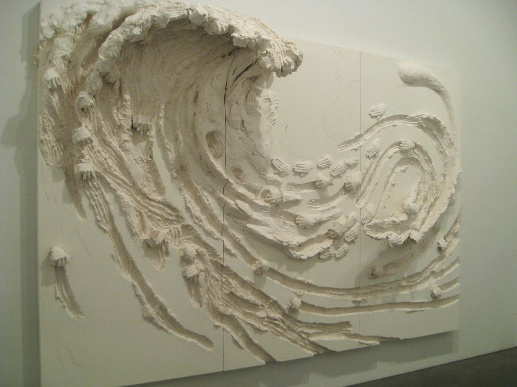 Plaster Wall Art david altmejd, wave, 2011, wood, plaster, burlap, paint overall