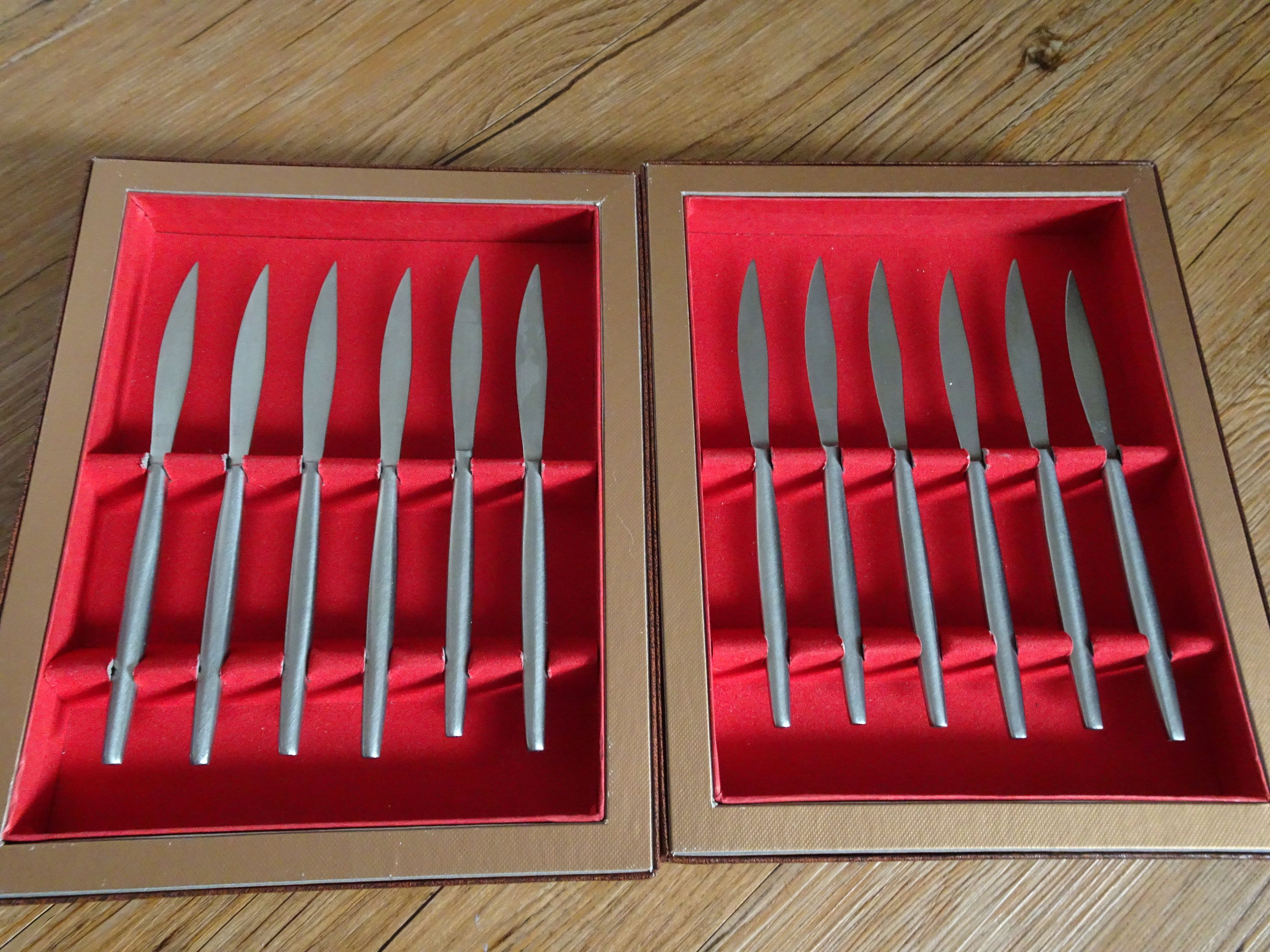 Table Setting With Steak Knife  U0026 Mid Century Kalmar Designs Fruit Knives Steak Knives