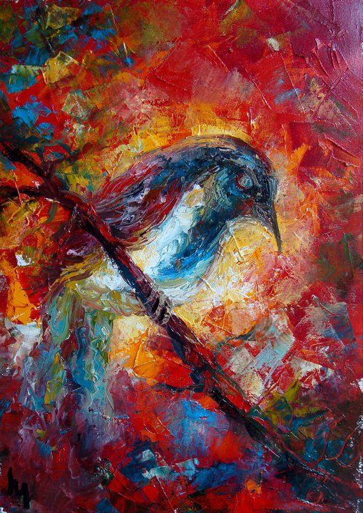 Abstract bird painting | Abstract Paintings, Bright Colors ...