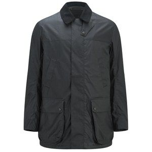 Knutsford Men's 'Made in England' Dry-Waxed Shooting Jacket - Black: Image 1