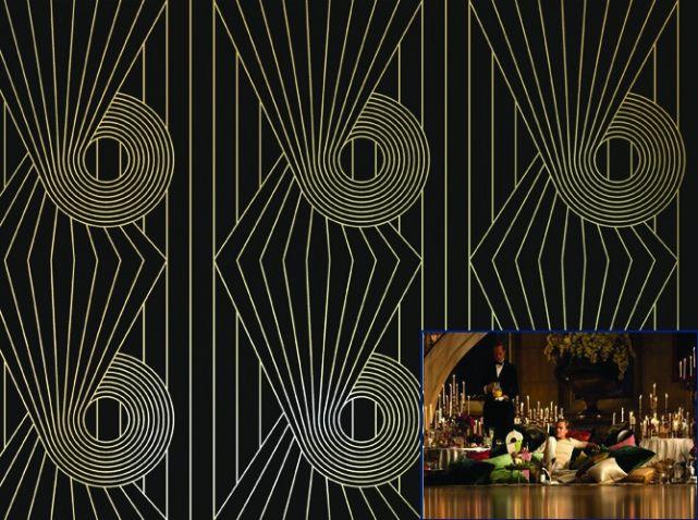 papier peint style art deco au fil des couleurs papiers peints wallpaper pinterest. Black Bedroom Furniture Sets. Home Design Ideas