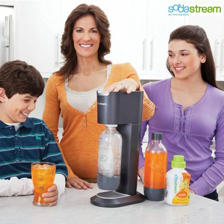 SodaStream Genesis Carbonated Beverage Maker Kit - Black & Silver or Red