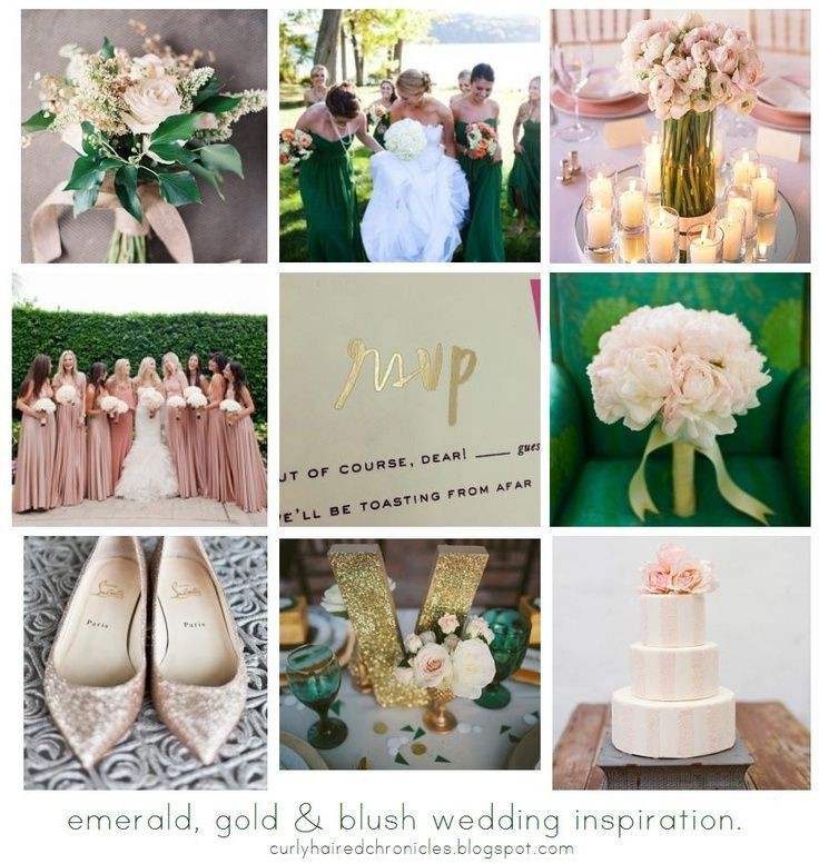 Wedding 12 30 13 Blush Wedding Flowers Wedding Motifs Emerald Green Weddings