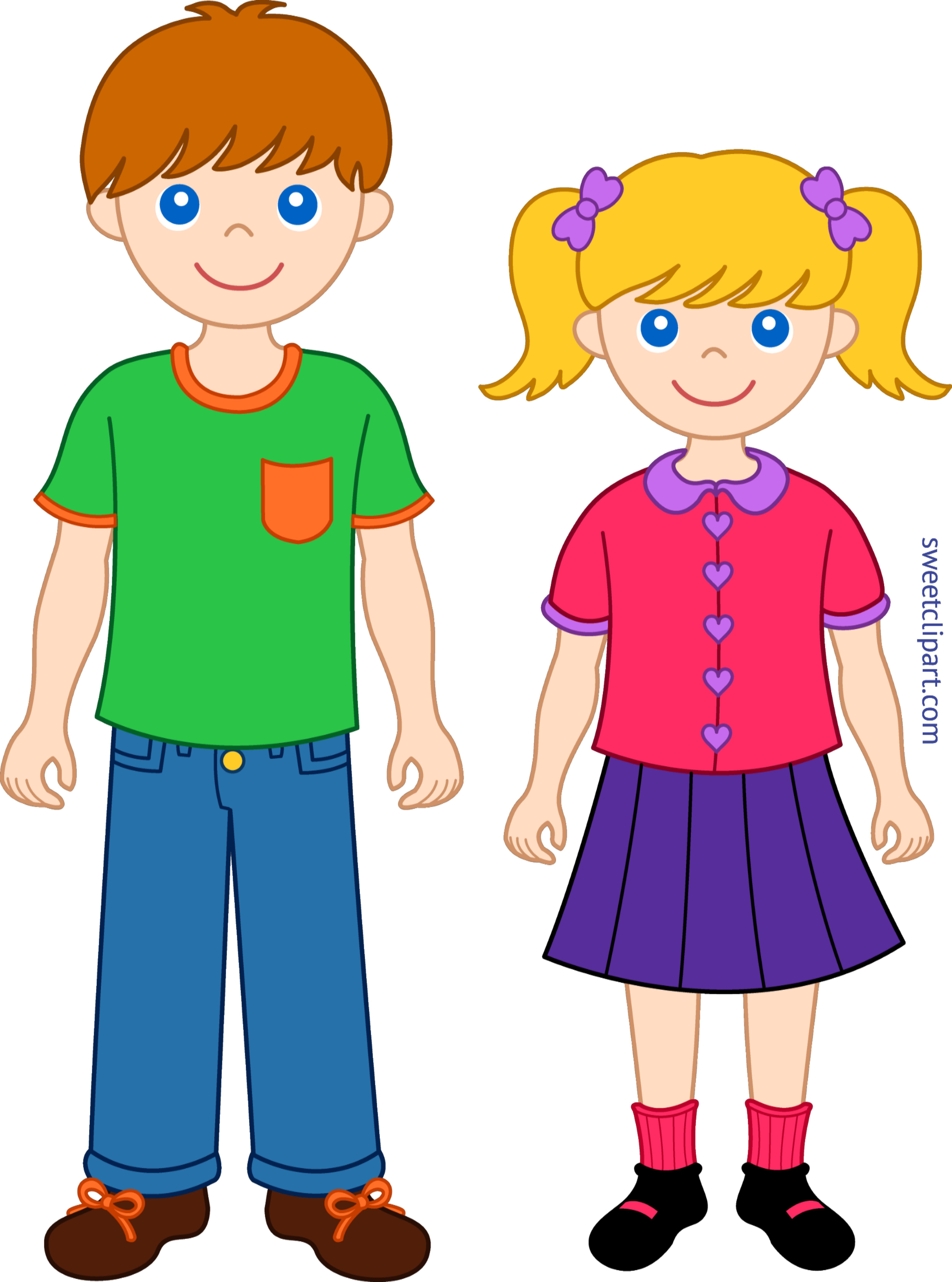 Siblings Clip Art
