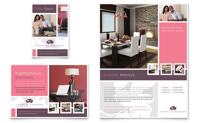 Interior Designer Flyer Ad Template Design Interior Design