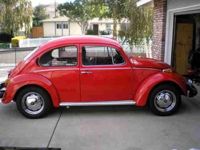 1974 Restored Vw Beetle Sedan For Sale Oldbug Com Vw Beetle For Sale Vw Beetles Red Paint Colors
