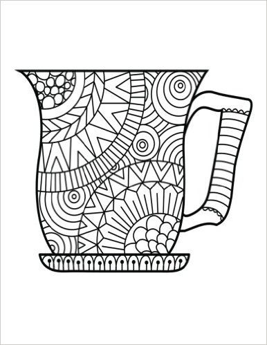 Blank Book Journal: Cup Zentangle Cover Diary Notebook ...