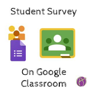 Student Survey On Google Classroom  Google Classroom