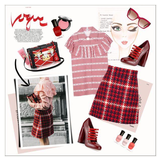 """Be in Vogue"" by amaryllis ❤ liked on Polyvore featuring moda, Miu Miu, NYX, Deborah Lippmann y Lancôme"