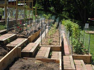 Garden Terraces Sloped Garden Garden Stairs Terraced Vegetable