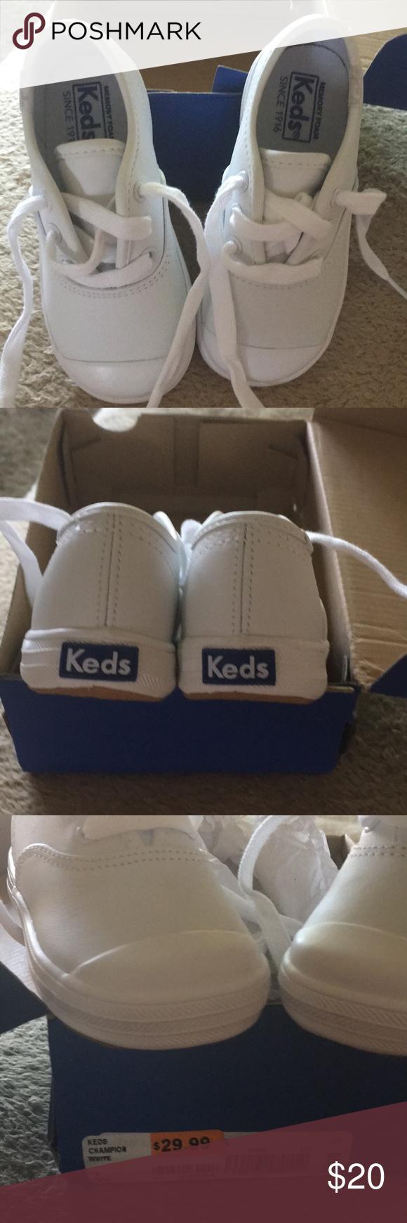 Keds Champion. White leather.   Keds