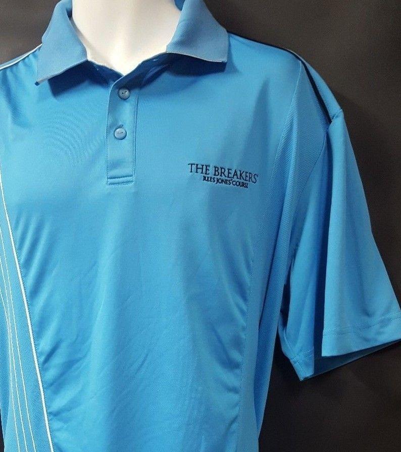 Cutter   Buck Size XL Blue Golf Shirt The Breakers Palm Beach Rees Jones  Course  CutterBuck  PoloRugby 76c276081