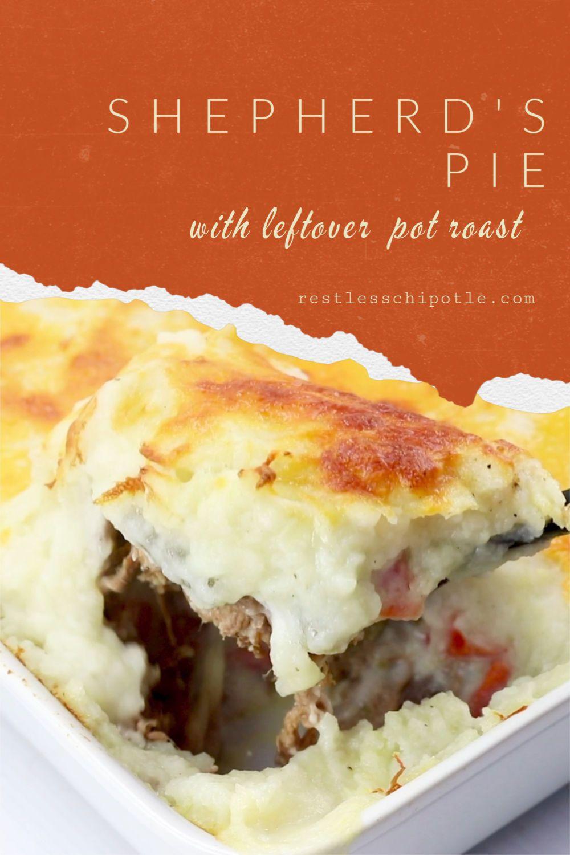 Shepherd S Pie With Leftover Pot Roast Recipe In 2020 Shepherds Pie Recipe Easy Leftover Roast Leftover Pot Roast