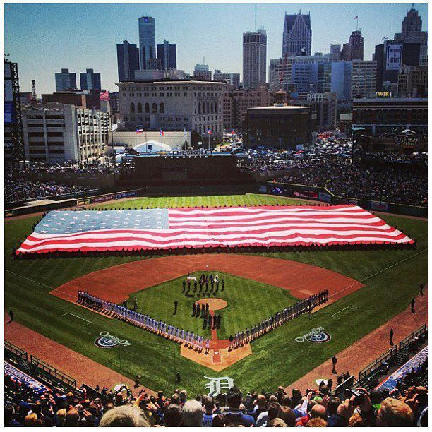 Comerica Park Detroit Michigan: Awesome Picture! Detroit Tigers Opening Day 2013 Comerica