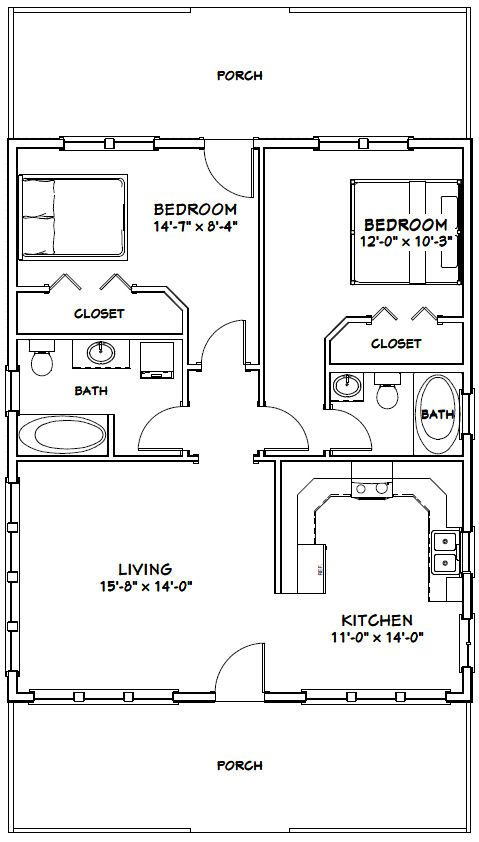 Pin By Kym Ruiz On Uzkie Doma Small House Floor Plans Tiny House Floor Plans House Plans