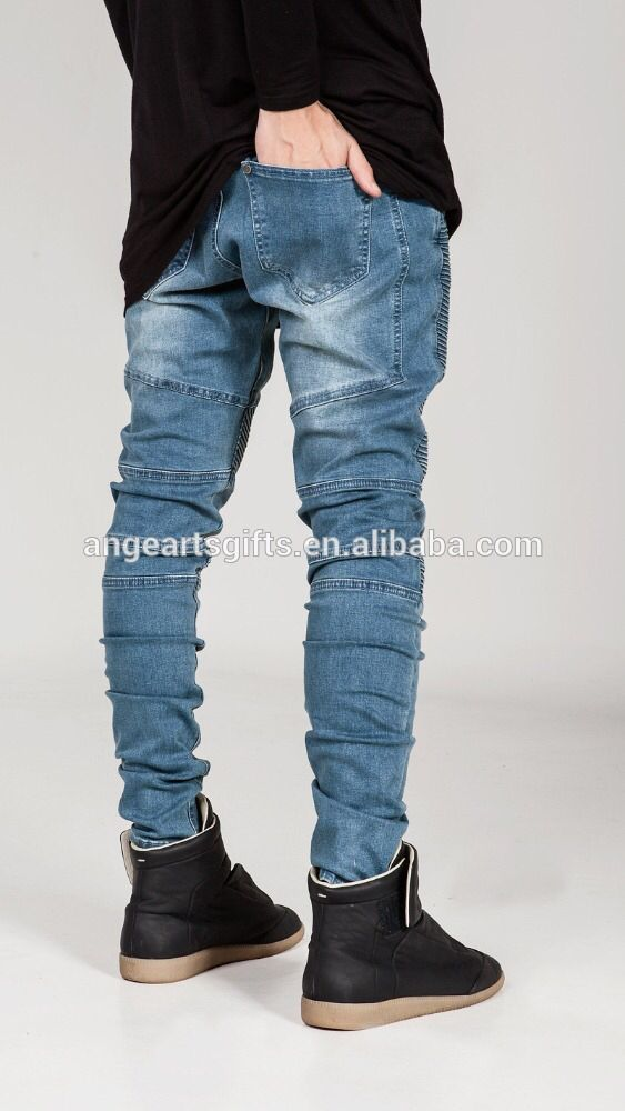 6e8340040f1e08 Check out this product on Alibaba.com APP Embroidery logo Jeans European  and American street BIKER JEANS locomotive men Tide folds Slim jeans