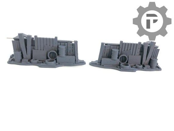Urban Post-Apocalyptic Hasty Barricades by Corvus Games Terrain. 28mm Sci Fi Wargame Terrain, great for Infinity the Game, Necromunda,