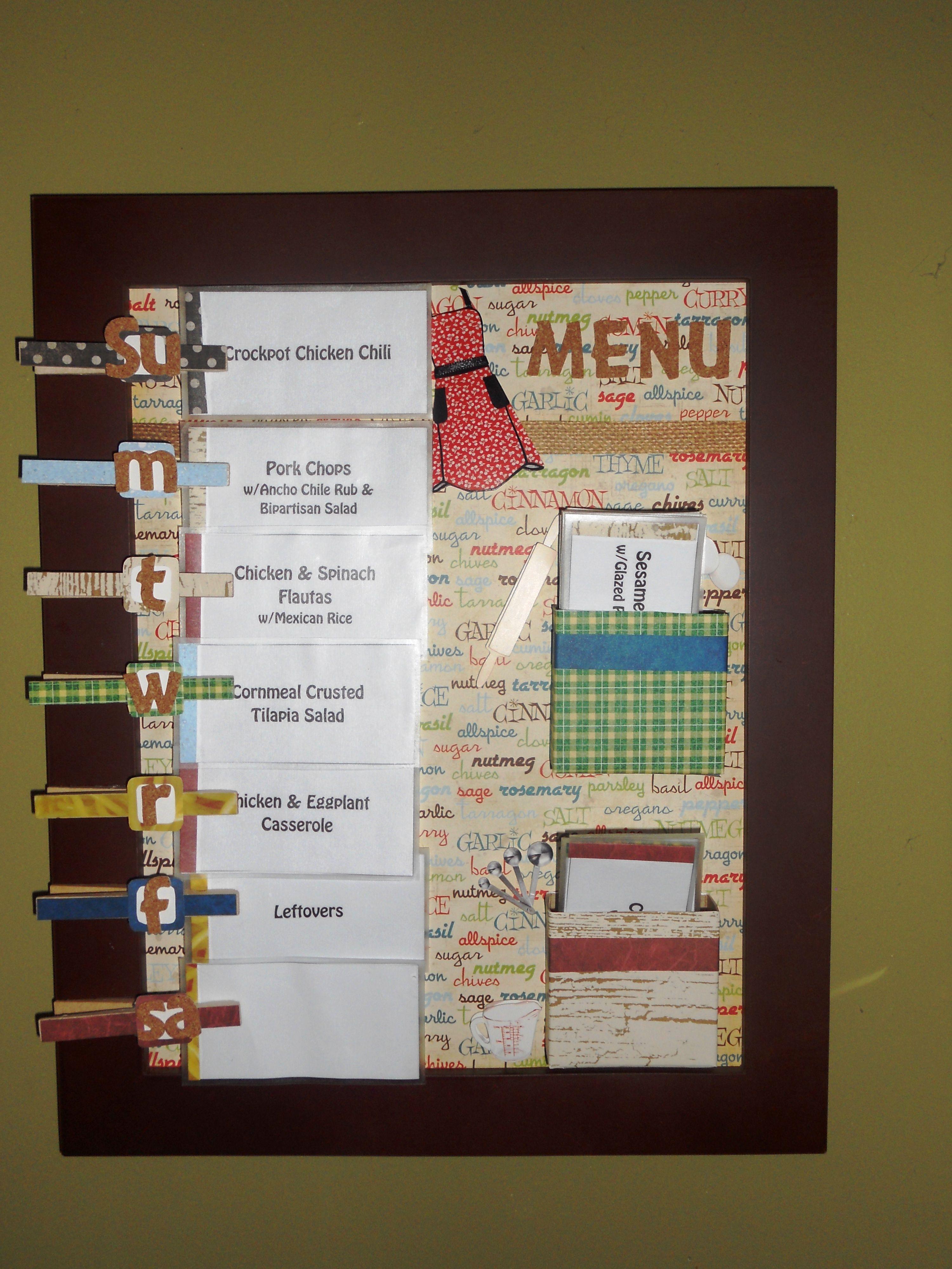 Menu Board | Crafty Ideas | Pinterest