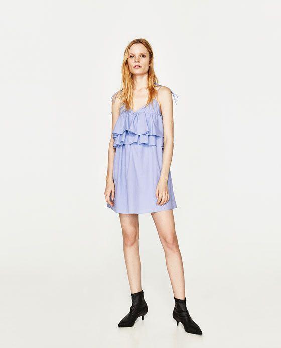 Zara Frills Woman With Strappy Dress HZTrHq