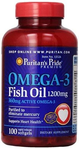 Puritan S Pride Nutritional Softgels Omega 3 Fish Oil 1200 Mg
