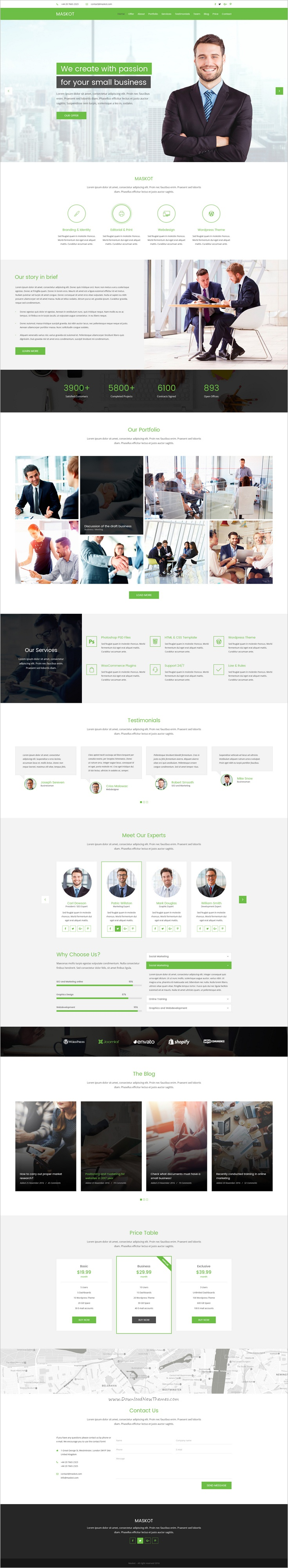 Maskot – Smart Business PSD Template | Psd templates, Template and ...