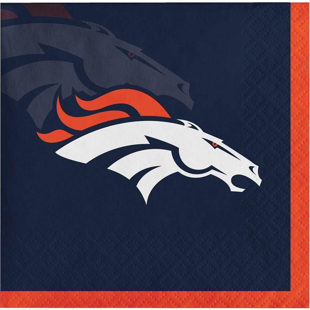(192/case) Denver Broncos Beverage Napkin, 2 ply (With