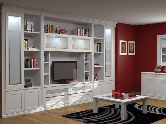 Resultado de imagen de boiserie blanca a medida mueble blanco pinterest searching - Muebles a medida madrid ...