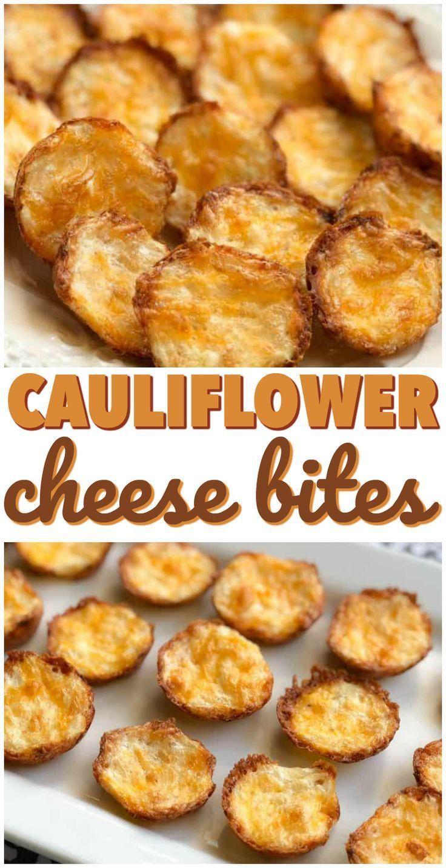 These Cauliflower Bites are a tasty Keto snack! Cauliflower Cheese Bites
