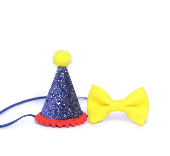 1st Birthday Boy Felt Hat And Bow Tie Set First Party B