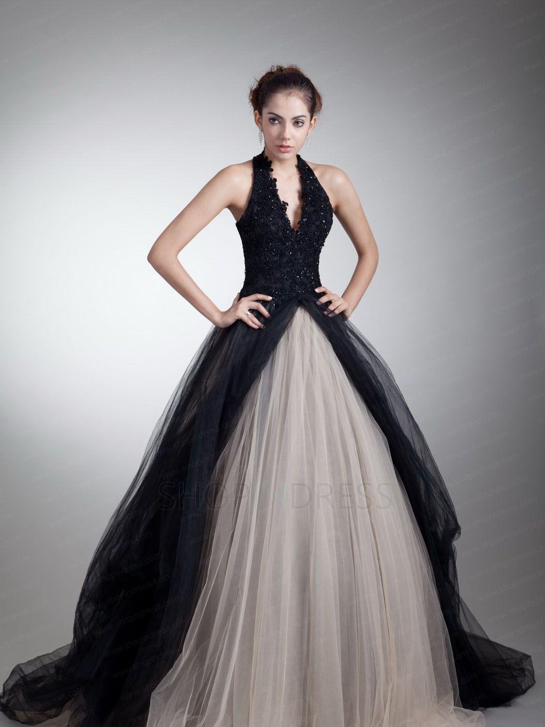 Organze halter neck ballgown soiree dresses pinterest halter neck