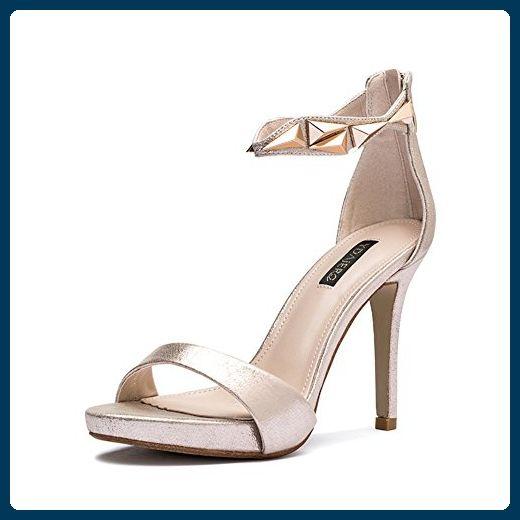 Schnalle High Heel Sandalen,Sommer Mode Sexy Peep-Toe Heels-Rosa Fu?l?nge=23.3CM(9.2Inch)